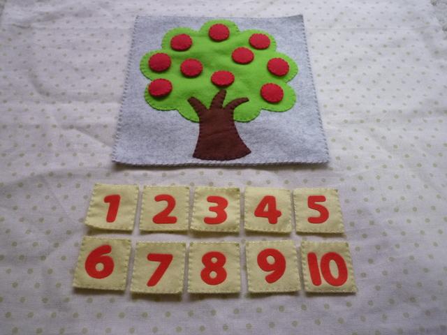 <再販10>数字の木(赤)