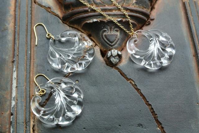 夜の魔術部 氷の彫刻 ピアス