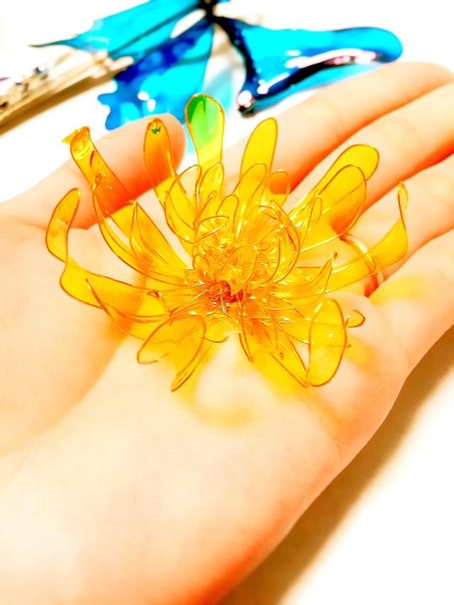 黄金菊の咲く頃に。 かんざし バレッタ ...