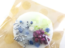 white flower colorful aroma wax bar♡