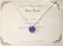 crystal heliotrope heart necklace