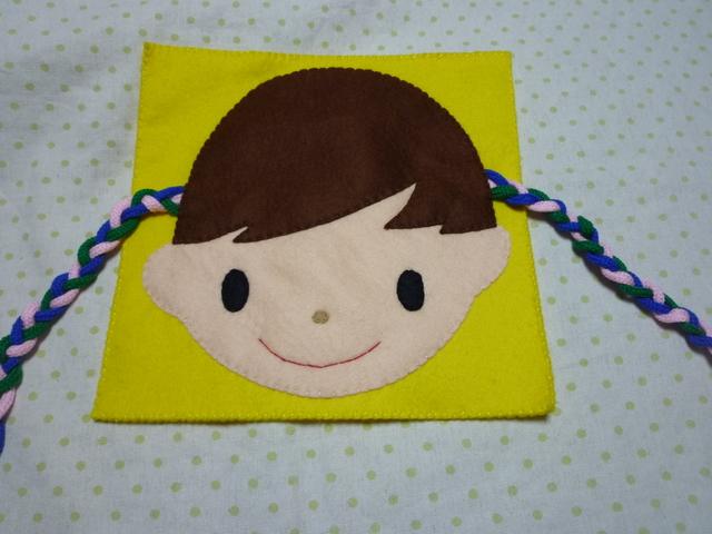 <再販2>女の子の三つ編み(黄色)