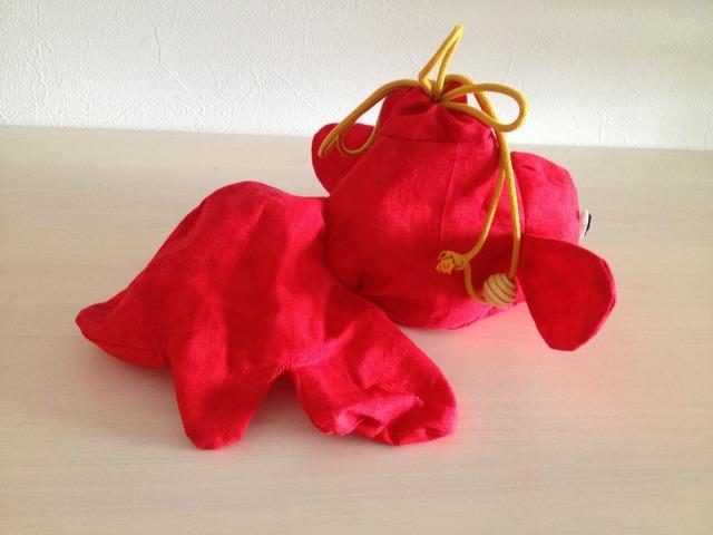 金魚の巾着(赤色)