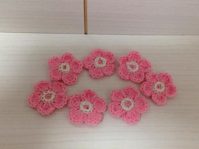 166 お花モチーフ 7枚セット ピンク