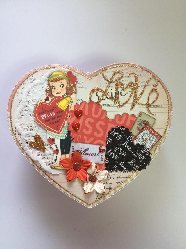 コラージュ バレンタインハートBox