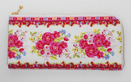 布製手縫い財布(花柄)
