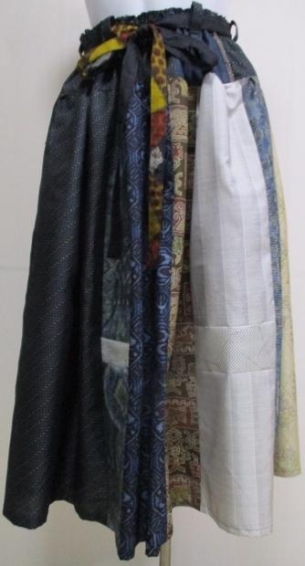 着物リメイク 大島と正絹の着物で作っ...