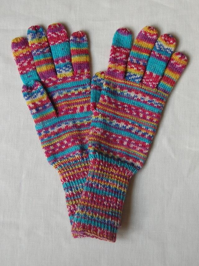 手編み5本指手袋 No.52
