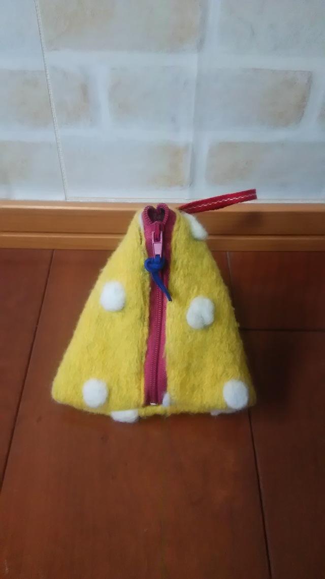 モコモコ☆ミニテトラポーチ(黄色)