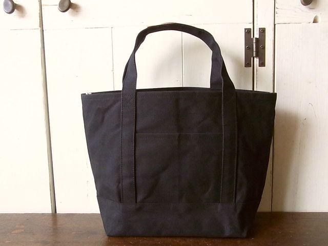 【再販なし】パラフィン帆布のトートバッグM 黒