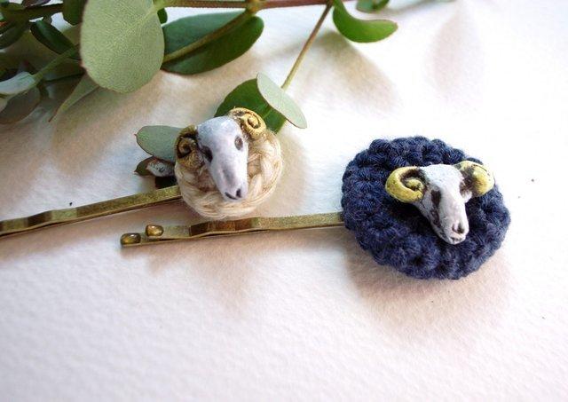 羊のヘアピン
