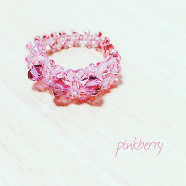 ピンク×ピンク ゆびわ