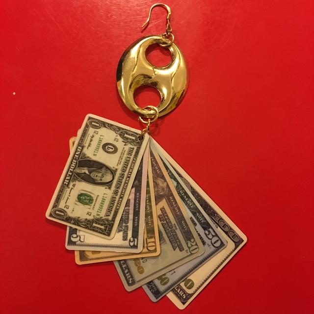 $$$  バンブー ゴールド 片耳ピアス