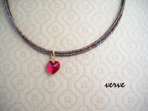 rosso cuore necklace