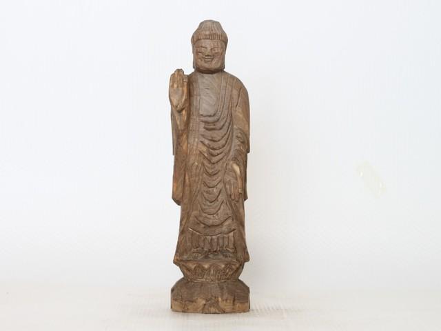 円空仏 摸刻:阿弥陀如来(高さ:30セン...