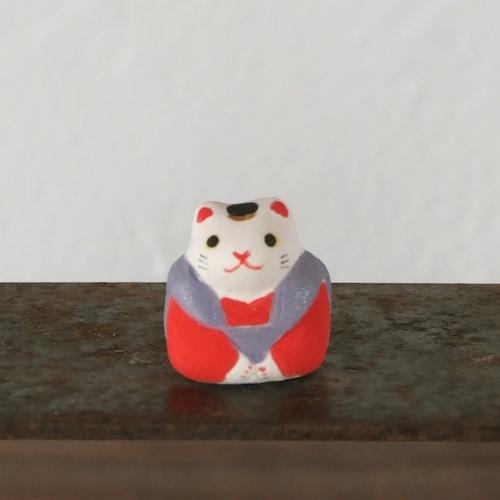 福猫のフェーブ(紫×赤)