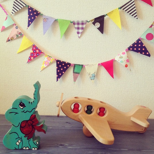 FUN FUN GARLAND 1m(for boy's room)