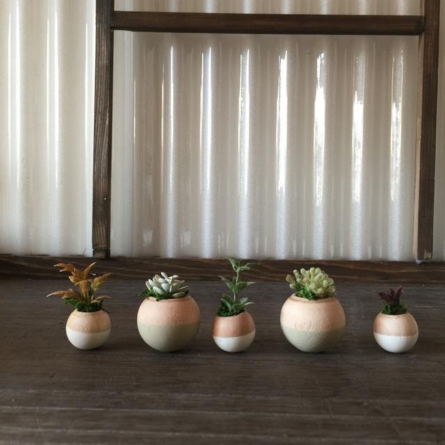 コロコロ植木鉢 ツートン白5個セット.
