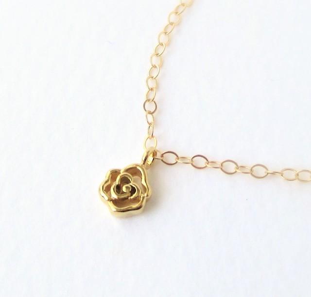 Mini rose ◆ミニローズネックレス 14kgf