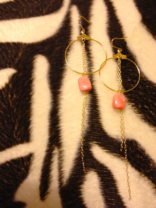ピアス*pink stone
