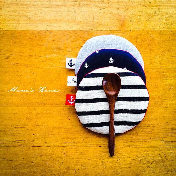 マリン コースター &木のスプーン セット♪