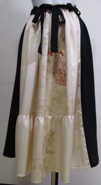 着物リメイク 黒の羽織と訪問着で作っ...