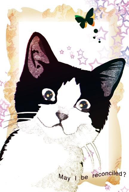 はちわれ猫のポストカード2種セット?