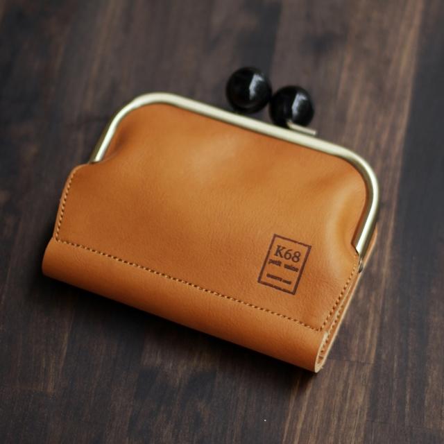 がま口二つ折り財布 / Camel