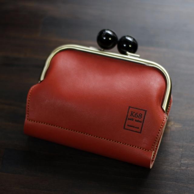 がま口二つ折り財布 / Red