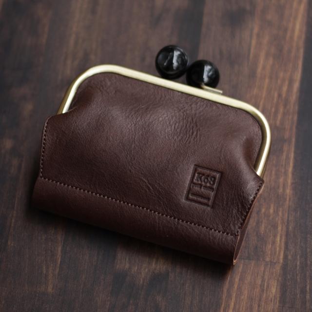 がま口二つ折り財布 / Choco