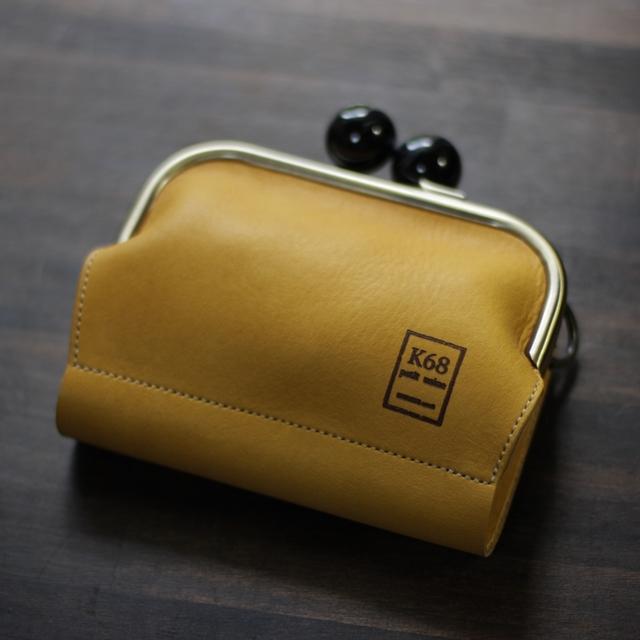 がま口二つ折り財布 / Yellow
