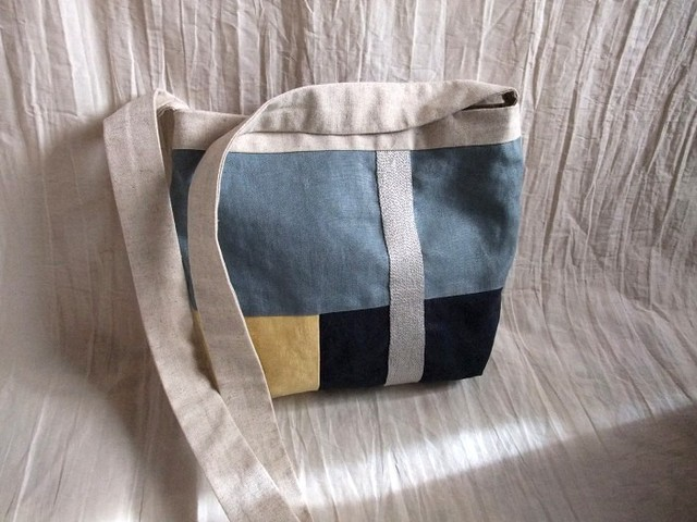 itoiro bag (blue cream)