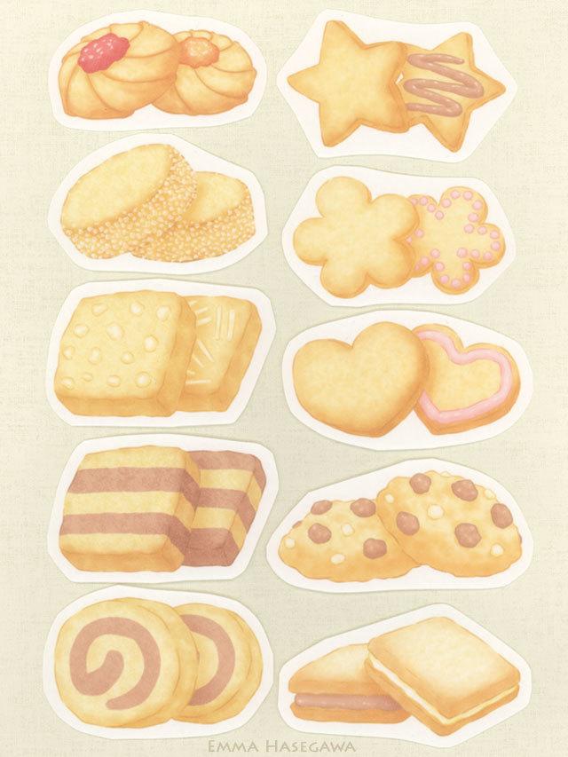 クッキーの形のカード