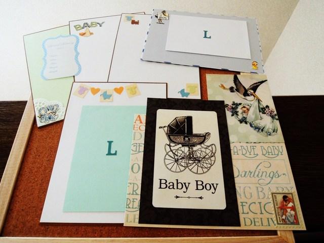 ★ BABY BOY  7* カードに コラージュに 写真台紙に