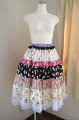 ファンシースイーツ★ギャザースカート