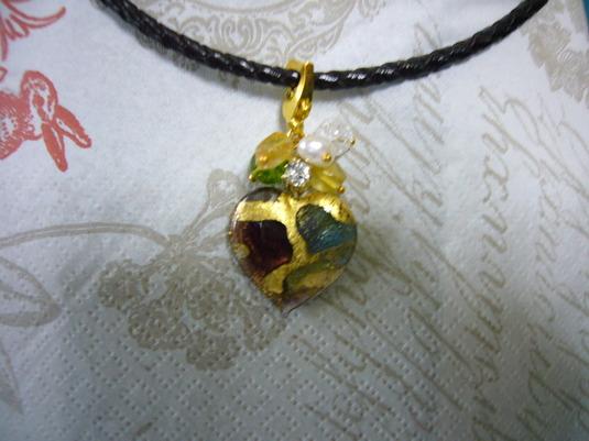ヴェネチアンガラスのネックレス (23)