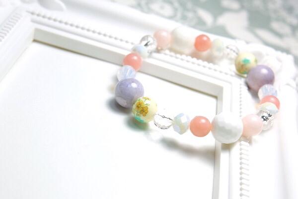 水桃の花(ピンクの春待ちブレスレット