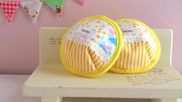 可愛い布母乳パット〜イエロー