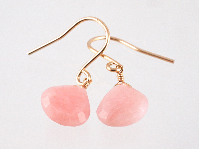14KGF Pink Opal Earrings