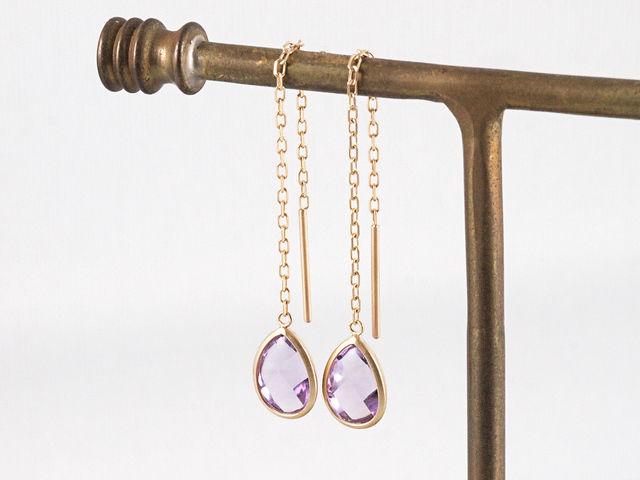 K10 Amethyst Earrings