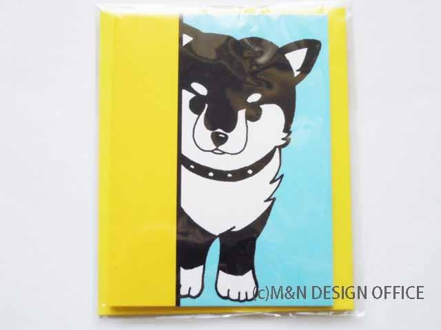 オリジナルイラスト「柴犬の隠れ家」ミニカード/封筒黄色