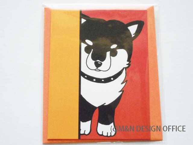 オリジナルイラスト「柴犬の隠れ家」ミニカード/封筒オレンジ