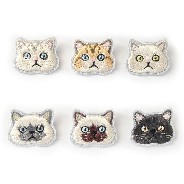 ペルシャ猫のミニ刺繍ブローチ