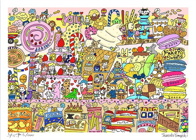 A4イラスト「Fancy sweets」