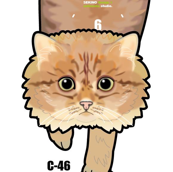 C-46 チンチラ(ゴールデン)-猫の振り...