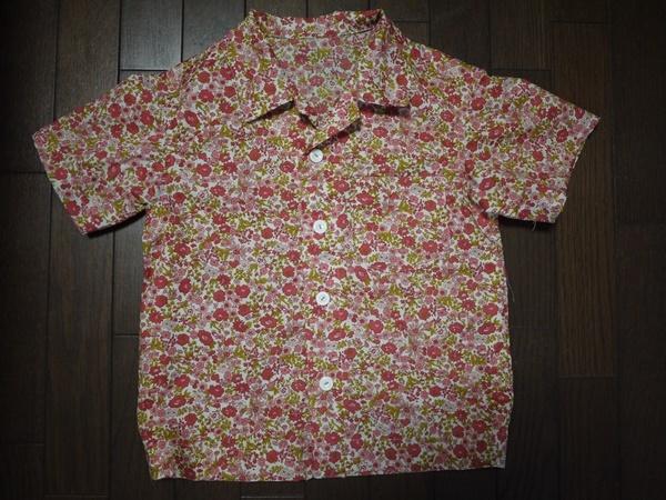 綿ローンでアロハシャツ  110センチ用