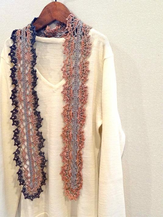 模様編みのストール by u-ya兎屋