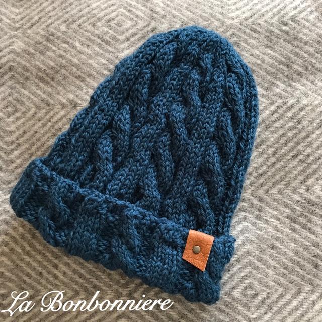 ニット帽 (ブルー)