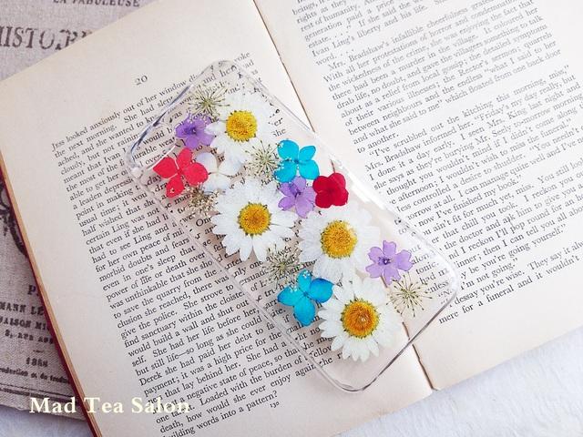 【iphone5c】ノースポールと小花のiphone5cカバー