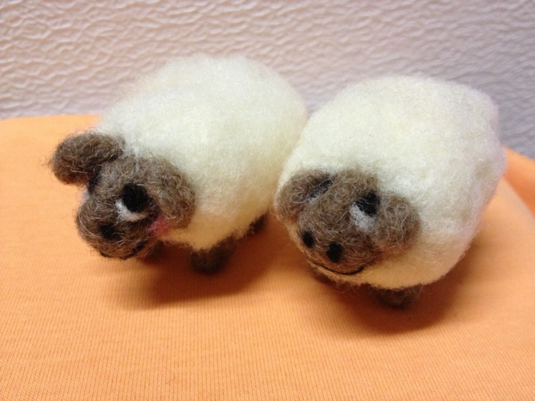 羊毛フェルト*ひつじさん